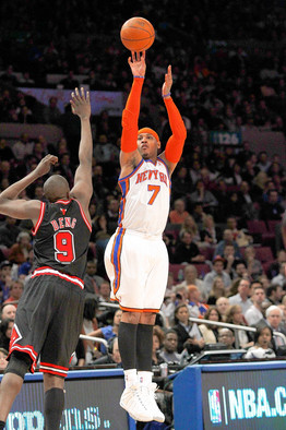 Carmelo's offensive arsenal is the greatest the NBA has ever seen ...
