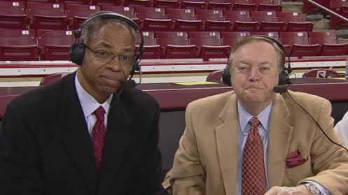 Len Elmore (left) and Mike Patrick (right) courtesy: ESPN.com
