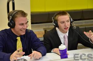 Lucas Frankel and Mike Lucas on the call for this game. courtesy: Emerson Channel Sports
